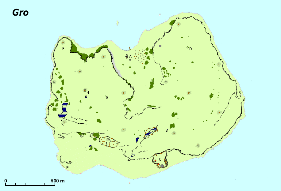 Karte von Gro (zum Vergrößern klicken)